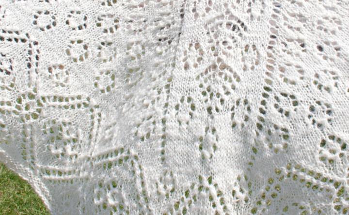 handspun handknit lace faroese shawl
