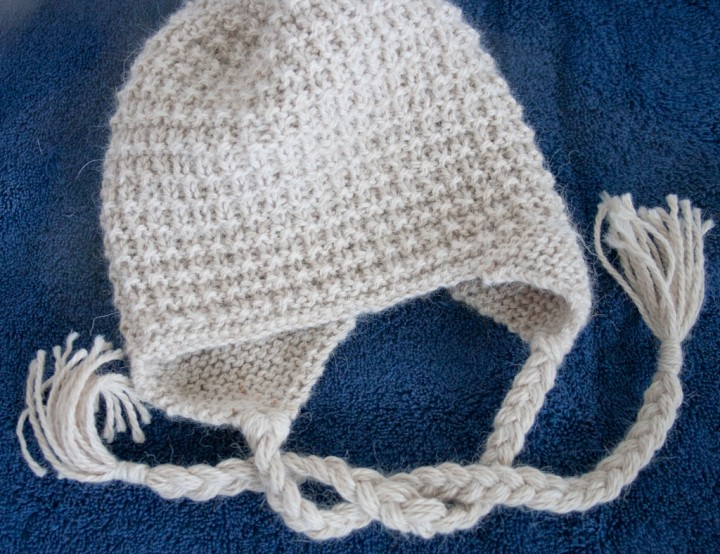 Luxury Alpaca Baby Cap with Earflaps