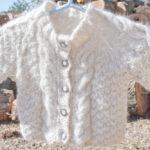 Angora Aran Baby Sweater Cardigan