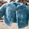 Handpun and handknit Angora and Merino Baby Sweater