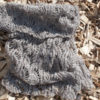 handknit cashmere and silk lace cowl