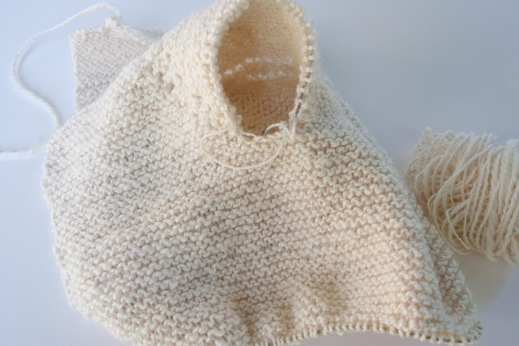 Handspun Handknit Garter Stitch Baby Jacket Nancy Elizabeth Designs
