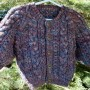 Merino and Silk Handknit Handspun Baby Sweater
