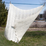 Old Shale Lace Baby Blanket