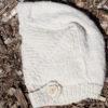 baby hat handknit from handspun cashmere yarn