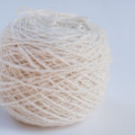 ball of handspun cashmere yarn