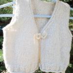 handspun handknit cashmere baby vest