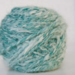 handspun merino and angora blend yarn