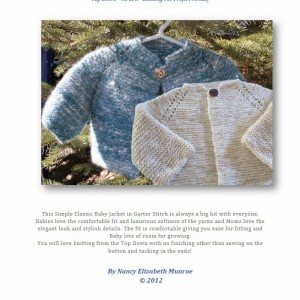 Garter-Stitch-Baby-Jacket Free knitting pattern