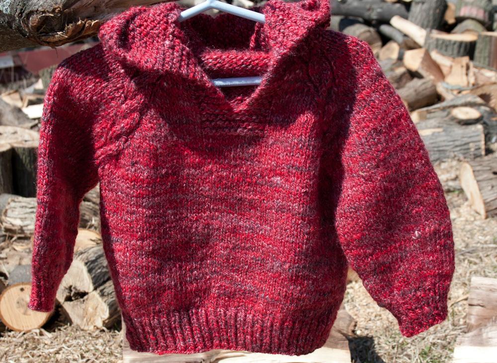 Top Down Hoodie Baby Sweater Knitting Pattern   Nancy ...