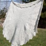 angora baby blanket handspun yarn