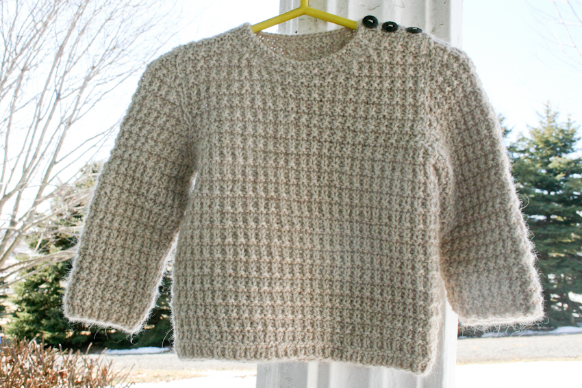 Eastport Alpaca Baby Sweater Pullover Knitting Pattern ...