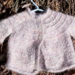 Pink Angora Baby Sweater