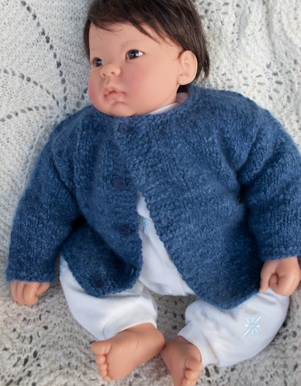 Little Boy Blue Angora Baby Cardigan Nancy Elizabeth Designs