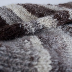 choosing a fleece with contrasting colours. This one has just black and white in what seems to be equal parts - that's very dark brown and cream, of course