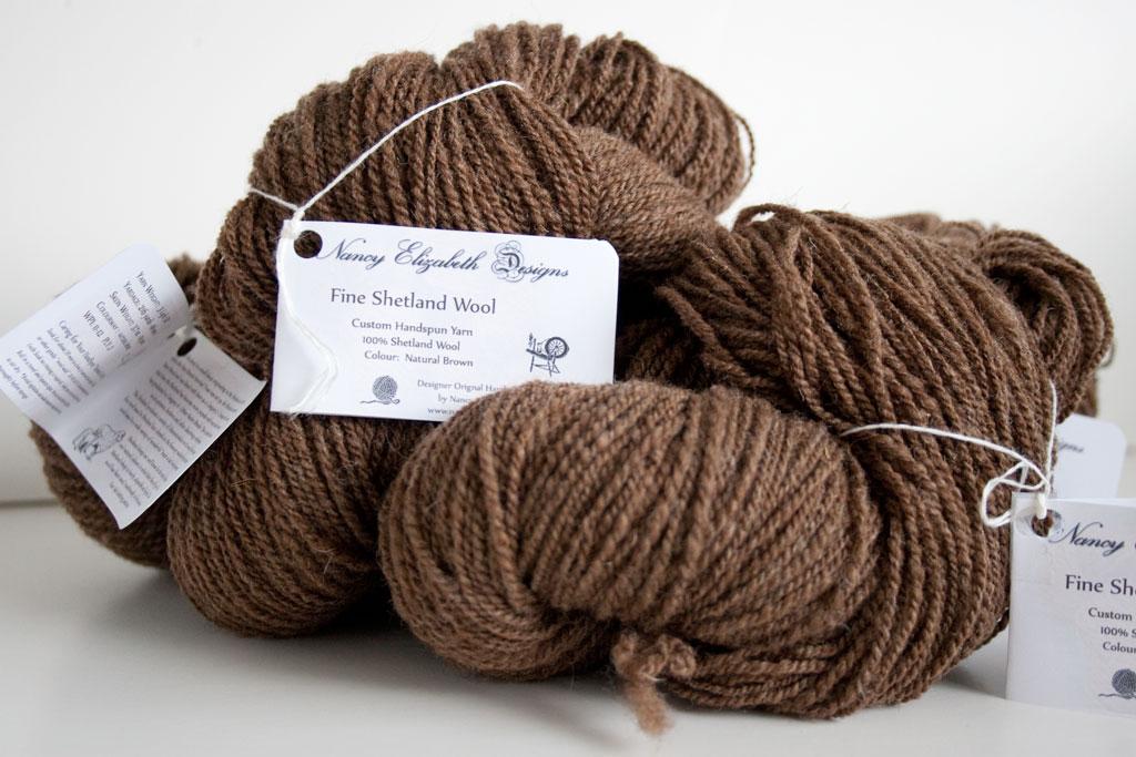 Shetland Wool Moorit Hand Spun Nancy Elizabeth Designs