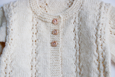 hand knit baby sweater-8648