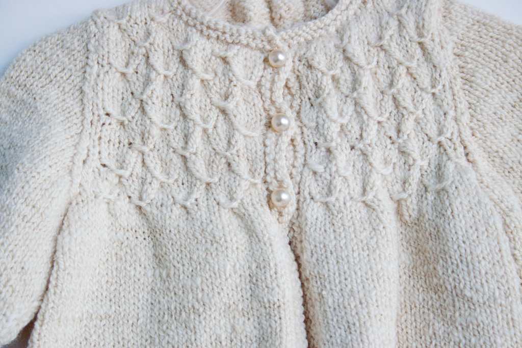 Purl Bee Knitting Patterns : HandKnit Smocked Baby Sweater in HandSpun Merino Wool & Silk Nancy Eliz...
