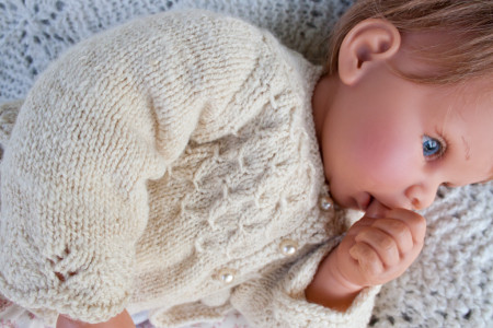 hand knit baby sweater-8713