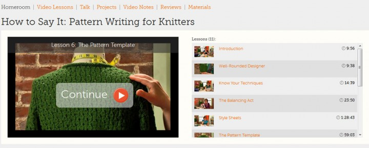 Craftsy Class How to Say It: Pattern Writing for Knitters
