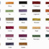 colour choices for our hand dyed handspun yarns