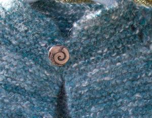 handknit handspun angora baby sweater