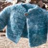 Handpun and handknit Angora and Merino Baby Sweater