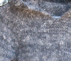 handspun and handknit angora sweater