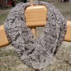 handknit cashmere and silk lace smoke ring