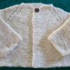 Handspun and Handknit Merino Wool and Silk baby sweater