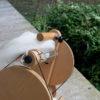 Spinning Natural White Merino and Silk handspun yarn