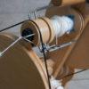 spinning alpaca yarn on louet spinning wheel