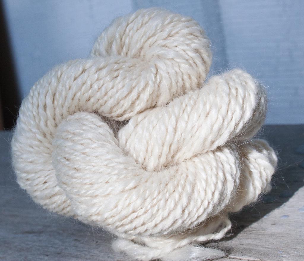 Custom Handspun Merino Wool And Silk Blend Yarn Nancy