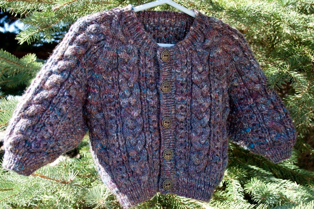 73dd112e60d9 Handspun Handknit Aran Baby Sweater
