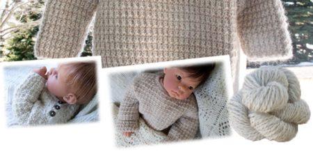 Alpaca Baby Sweater Pullover Knitting Pattern