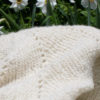 cashmere blanket hand knit with hand spun cashmere yarn