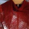 handknit shawl from lace weight handspun cashmere yarn