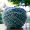 ball of handspun angora and merino wool blend yarn