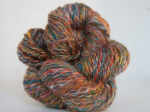 Skein Merino and Silk handspun yarn
