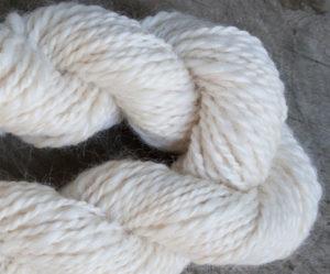 skein Handspun Merino and Silk blend yarn