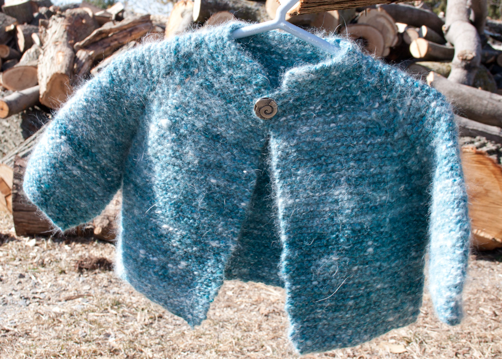 Top Down Garter Stitch Baby Jacket Pattern Download Nancy