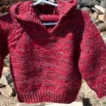 merino and silk top down hoodie