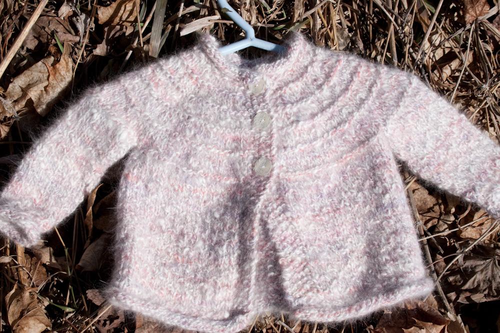 80b4a672532e Hand Knit Angora Baby Sweater