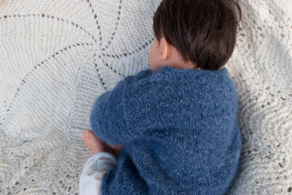 9ac357aa9103 Little Boy Blue Angora Baby Cardigan