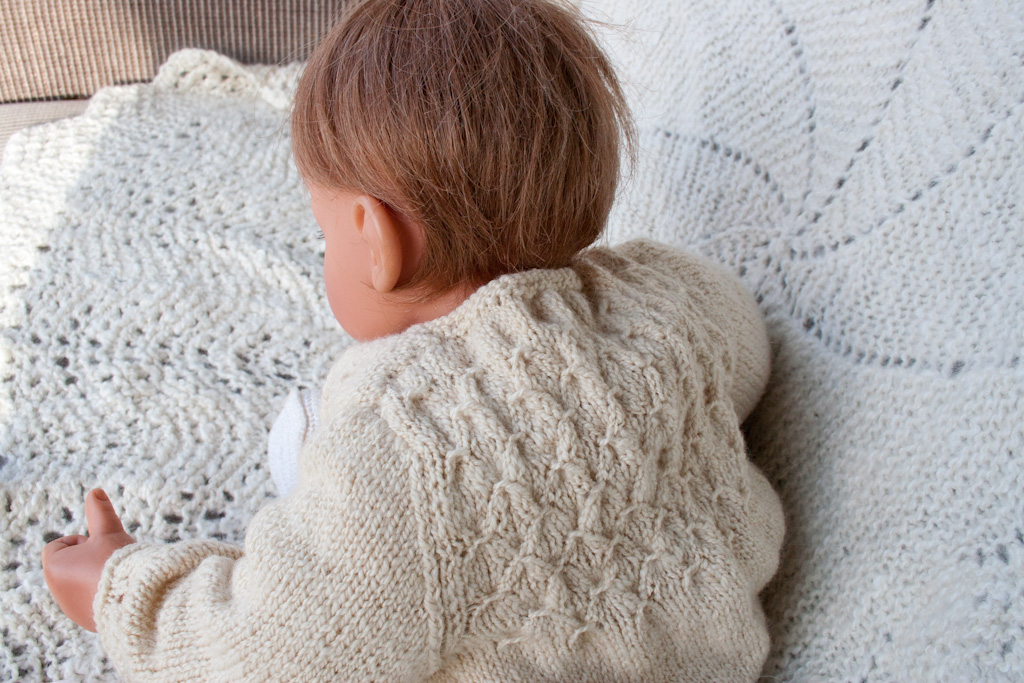 Hand Knitting Patterns For Babies : HandKnit Smocked Baby Sweater in HandSpun Merino Wool & Silk Nancy Eliz...