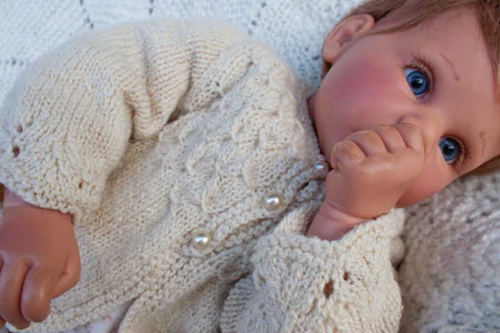hand knit baby sweater-8714
