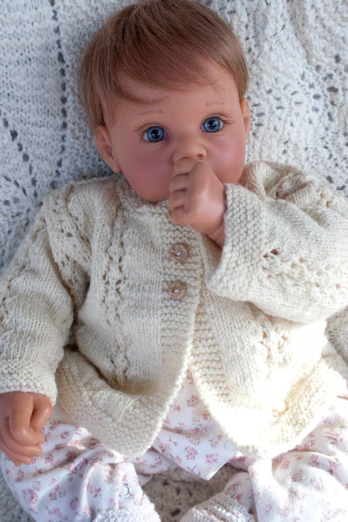 Hand Knit Merino Baby Sweater Nancy Elizabeth Designs