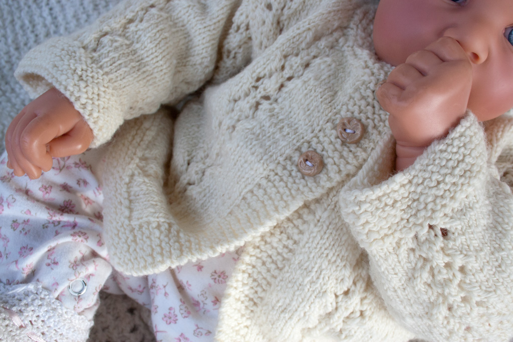 Hand Knit Merino Baby Sweater Nancy Elizabeth Designs